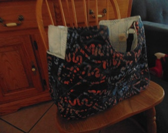 Large bag with 6 pockets