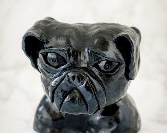Black Pug head