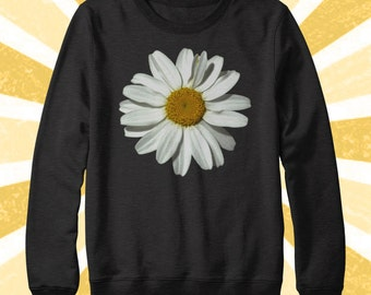 So cute Daisy Sweater - Flower Power - Flower child - Hippie - BOHO - Daisies - Fall Apparel - Hipster - 90's - Women's and Men's sweatshirt