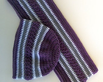 Matching crochet cowl and beanie