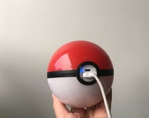Hand-made Pokeball Themed Battery Pack / Phone Charger / Power bank (attaches to belt loop or backpack with a keychain clasp)