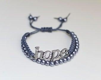 """Pretty Knotty Double """"hope"""" Bracelet"""