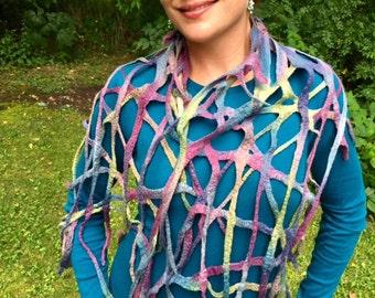 Lattice scarf shawl