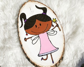 Wood Slice Art- Fairy Princess