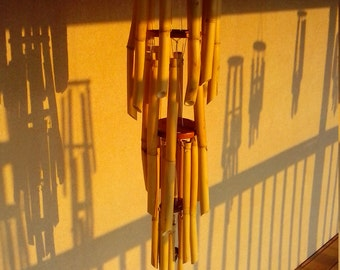 5 ft Rustic bamboo chime