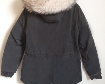Automn parka kaki/grey with fur on the hood