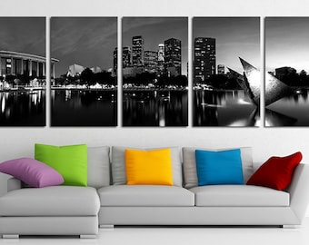 Los Angeles Canvas Print Wall Art Set Los Angeles Skyline Los Angeles Photo Print Los Angeles Wall Decor Los Angeles Poster Los Angeles City