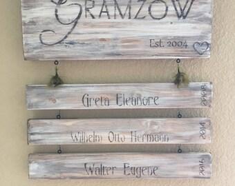 Custom made family signs