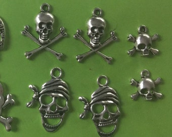 Scull Charms