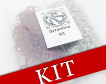 DIY Gift - DIY Kit - DIY Crafts - Necklace Kit - Byzantine Necklace - Chainmaille Tutorial - Jewelry Tutorials