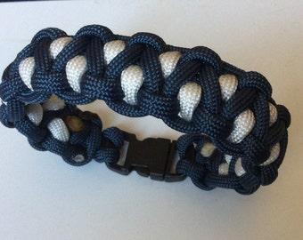 Blue and White Paracord Bracelet #550