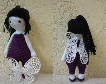 Fairy Vidia with Lace wings /Crochet toy /Handmade doll for toddler, child /Birthday, Christmas gift /Similar to Lalylala doll /Disney fairy
