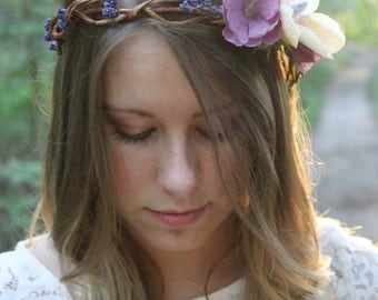Bridal Crown, Floral Crown, Wedding Crown, Boho Crown, Bridesmaid Crown