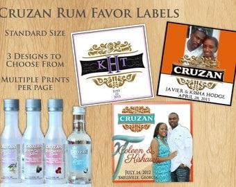 Cruzan Rum Labels (Mini)