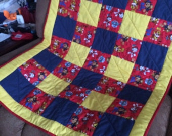 Paw Patrol Nap time Cuddle Blankie / Quilt