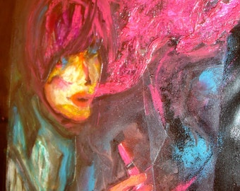 Mixed Media Abstract Self Portrait