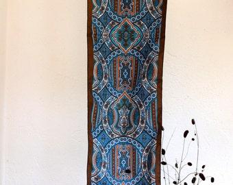 Vintage scarf, scarf, Blue scarf, Foulard, Striped scarf, Colorful scarf, Headband, 70s, Headscarf, Boho scarf, Hippie scarf, Italian