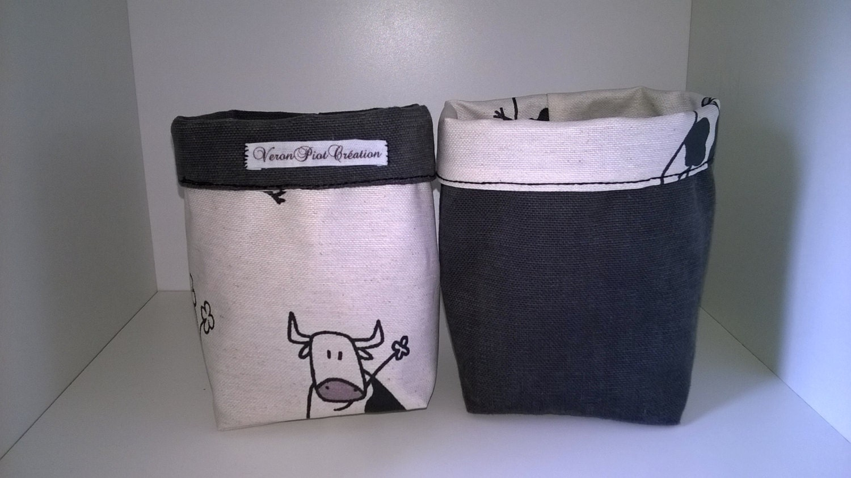 panier vache vide poche vache corbeille vache emballage. Black Bedroom Furniture Sets. Home Design Ideas
