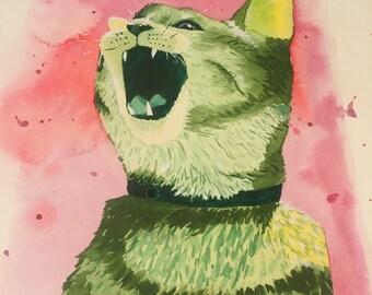 "5"" x 7"" Custom Watercolor Pet Portrait"