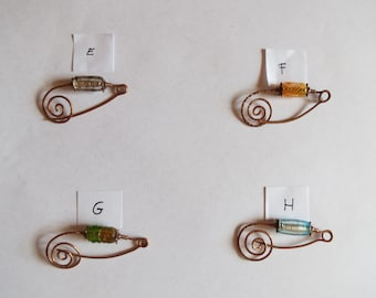 Hand-crafted Copper brooches