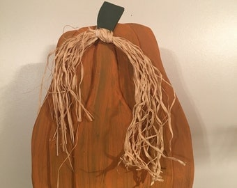 Fall Wooden Pumpkin