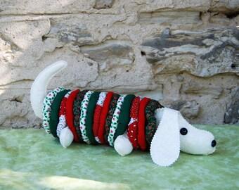 Christmas Daschund Stuffed Yoyo Dog