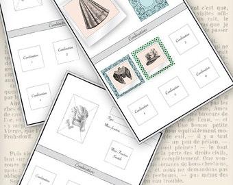 Wardrobe Combination Cards printable wardrobe organization organizing instant download digital collage sheet - VDORVI1124