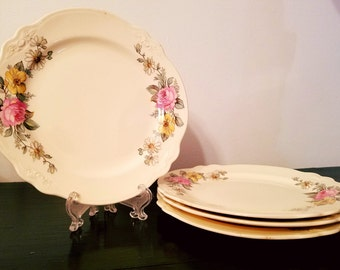 Virginia Rose Plates by Homer Laughlin