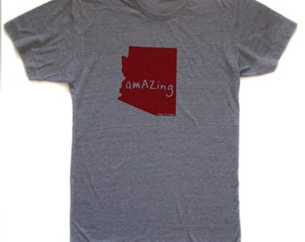 arizona tshirt, state pride tshirt, unisex, neutral, silkscreened tshirt, graphic tshirt, witty tshirt, men's gift ideas, free ship