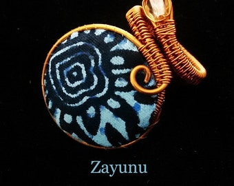 Ankara fabric fingerwrap ring