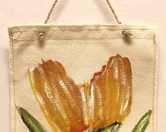 Orange Tulip, Flower Painting,  Wall Hanging, Original Painting, Original Art, Wall Decor, Winjimir, Art, Gift, Office Art, Home Decor, Art