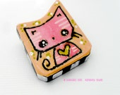 Cat Brooch Kawaii Pink Kitty Pin