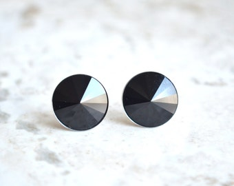 Danica - Black Swarovski Stud Earrings