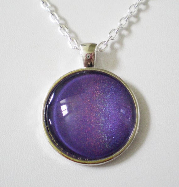 Spectrum Holographic Nail Polish: Lavender Purple Holographic Nail Polish Necklace Jewelry ILNP
