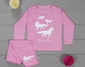 Personalised Pyjamas|kids pajamas|girls pjs|boys pjs|personalised gift|fox pjs|birthday gift|childrens pyjamas|baby pjs|fox pajamas