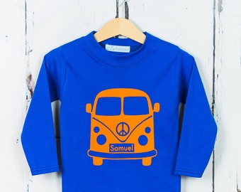 VW Camper Van Kids T shirt