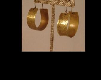 Boho Brass Hoop Earrings