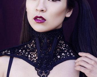 Custom Made Black Lace Collar Posture Collar
