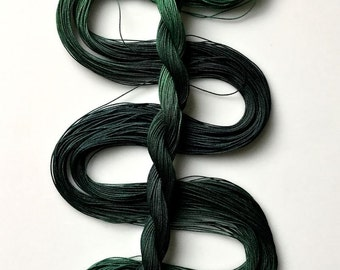 """Size 20 """"Forest"""" hand dyed thread 6 cord cordonnet tatting crochet cotton"""