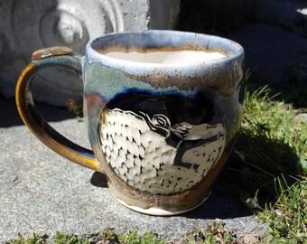 Handcarved Rock Climber/Boulderer Mug
