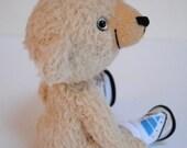 Hermione the Hockey Player - one of a kind handmade mohair artist teddy bear, 10 inches, by BigFeetBears