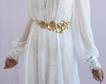 Bridal sash - Antique garden flower sash - Style 649