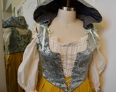 Renaissance or Fantasy Bodice with Removable Hood