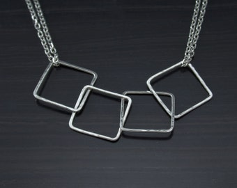Silver Babywearing Necklace, Baby Friendly Geometric Necklace Gift For Mom