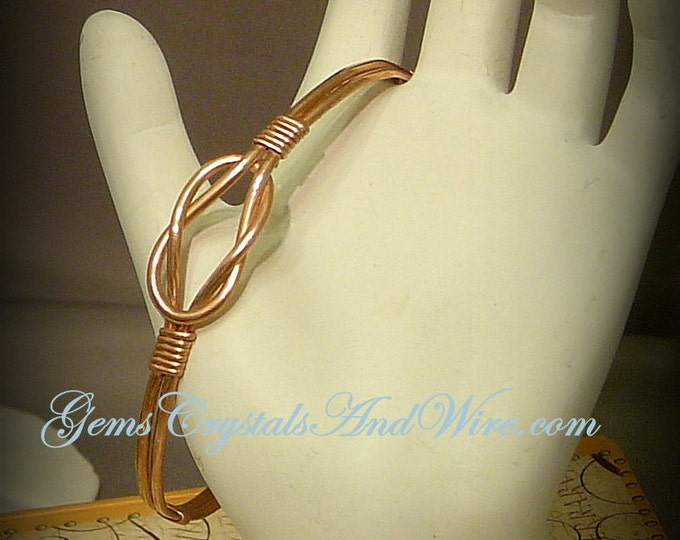 Copper Square Knot Bracelet, Bracelet for men, Bracelet for women, Unisex bracelet, handmade, Gift ideas, Wedding gifts