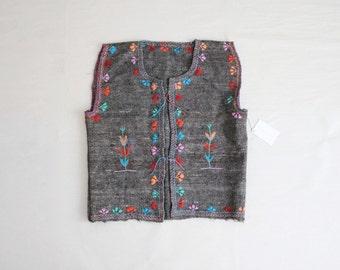peruvian vest   embroidered ethnic vest   wool vest