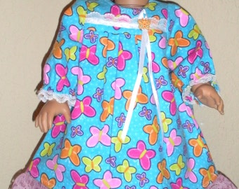 Butterfly nightgown--18 inch--doll dress