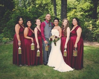 Marsala Wine Infinity Dresses  Handmade to exact measurements & length Custom wedding colors Bridesmaids Dress Multiway Ginger Twobirds Wrap