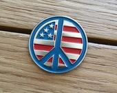 Peace Symbol Enamel Pin by Print Mafia®
