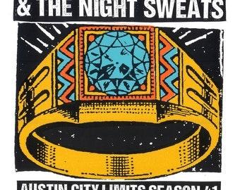 Nathaniel Rateliff & the Night Sweats Austin City Limits Screen Print Concert Poster by Print Mafia